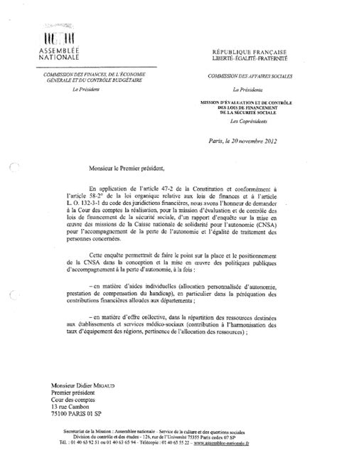 Lettre Demande De Questionnaire N 176 2507 Rapport D Information De Mme Martine Carrillon Couvreur D 233 Pos 233 En Application De L
