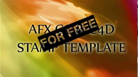 afx templates st effect template afx and c4d for free hd