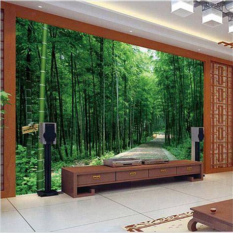 green tv wall for living room download 3d house beibehang custom photo wallpaper 3d stereoscopic pastoral