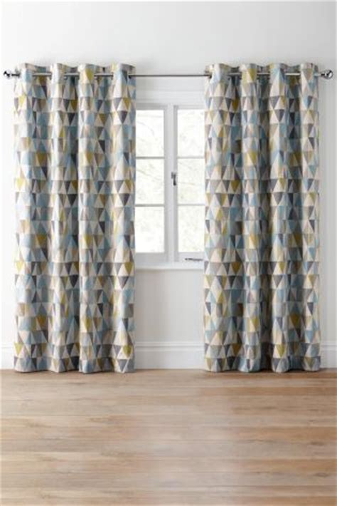 next online curtains buy textured geo print eyelet curtains online today at