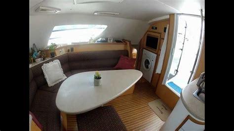 inside a catamaran take a tour inside now zen a 42 ft sailing catamaran