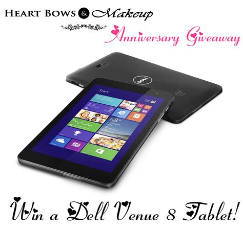 Giveaway India - heart bows makeup first anniversary giveaway win a dell tablet heart bows makeup
