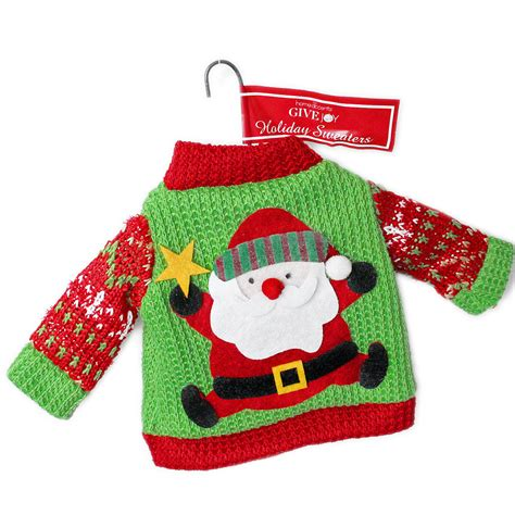 sweater ornaments santa sweater ornament the sweater shop