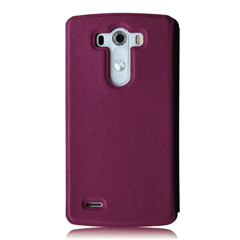 Casing Pu Syntetic Leather Circle Window Premium Lg L Fino smart circle window flip leather cover protector for lg g3 smartphone ebay