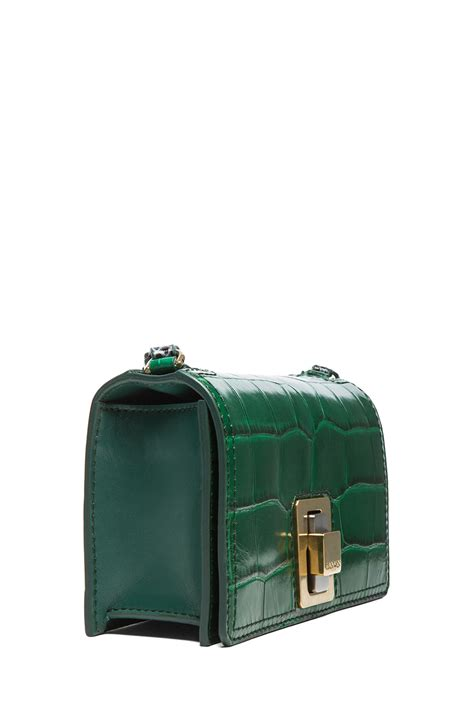 Lanvin Odeon Large Messenger Bag by Lanvin Mini Rigid Bag In Emerald Green
