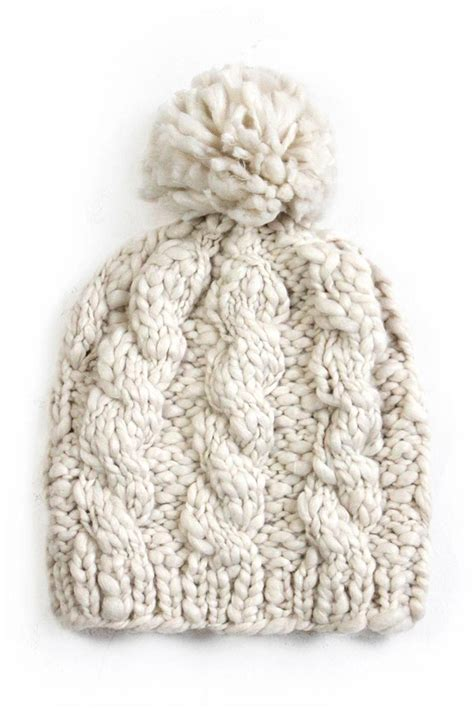 New Prospects Cable Knit Hat From Wisconsin By Edie