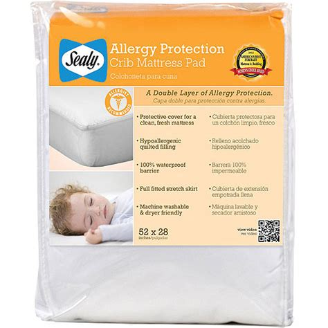 Mattress Allergy by Sealy Allergy Protection Crib Mattress Pad Walmart