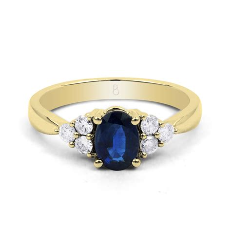 blue sapphire vintage engagement ring in