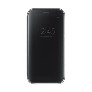 Samsung A5 Hitam jual samsung original clear view cover casing for samsung galaxy a5 2017 a520 hitam