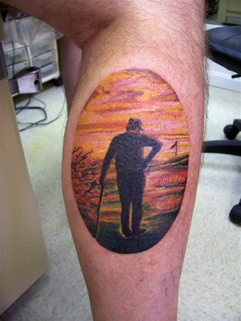 oval tattoo designs 40 golf tattoos for manly golfer designs