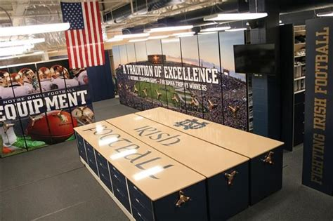 notre dame room and board notre dame football equipment room fighting