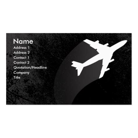 Aviation Business Cards Templates Free by Airplane Business Card Zazzle