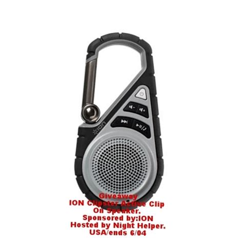 Active Giveaways - ion clipster active clip speaker giveaway usa ends 06 04 night helper