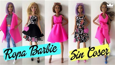 como hacer ropa para barbie c 243 mo hacer ropa para barbie 161 sin coser vestidos falda