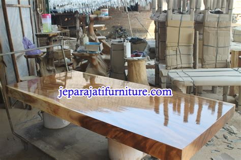 Harga Clear Gloss Kayu jual meja kayu trembesi gloss jepara jati furniture