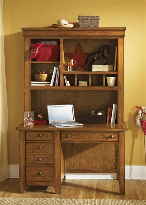Youth Desk With Hutch S Cabin Youth Student Desk Hutch In Aged Oak Finish By Liberty Furniture 176 Br70b