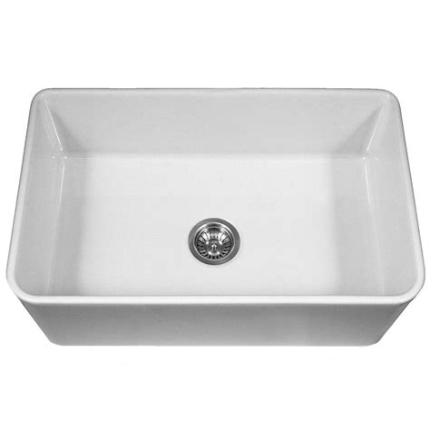 white single bowl kitchen sink houzer platus series farmhouse apron front fireclay 33 in