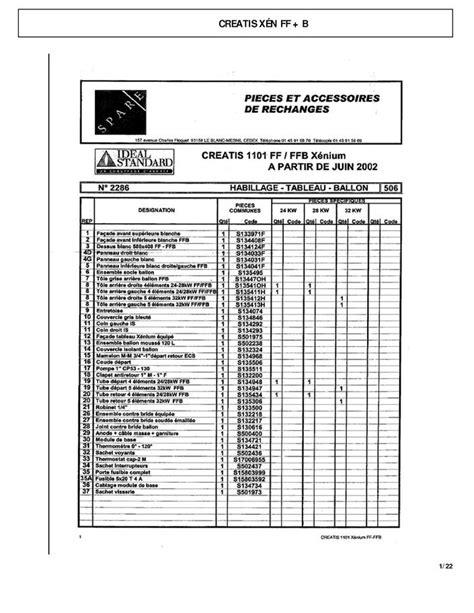 Thermostat Chaudiere 1998 by Pi 232 Ces D 233 Tach 233 Es Chaudi 232 Re Id 233 Al Standard Creatis Xen Ffb