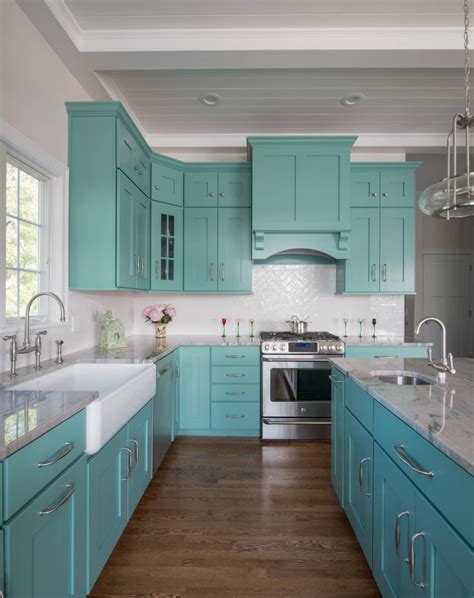 Turquoise Painted Kitchen Cabinets Mikayla Valois Riverhead Building Supply House Of Turquoise