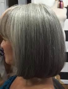 grey hair on mid length hair 60 gorgeous hairstyles for gray hair