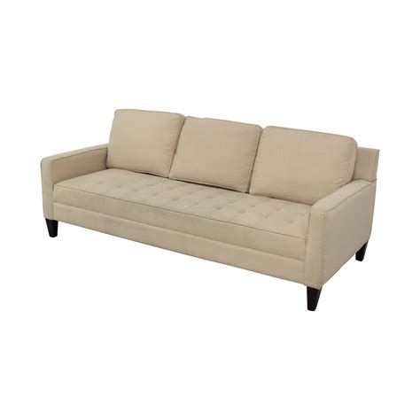 single sofas 82 off off white tufted single cushion sofa sofas