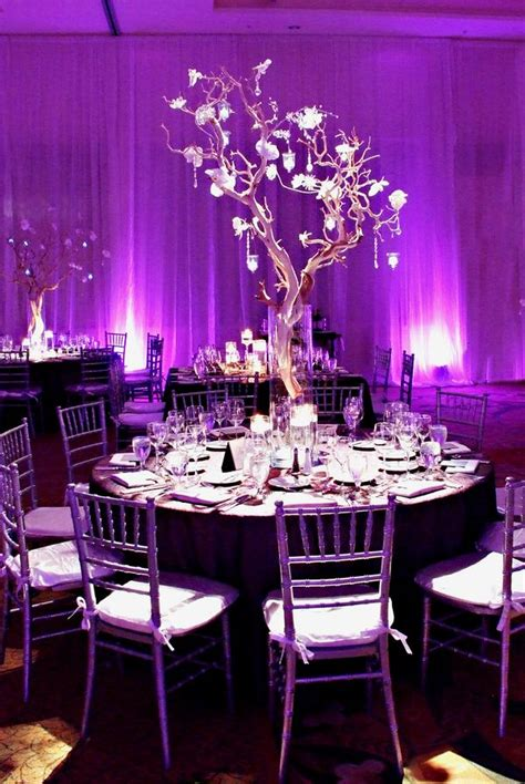 wedding table decorations purple and black color inspiration purple wedding ideas for a regal event
