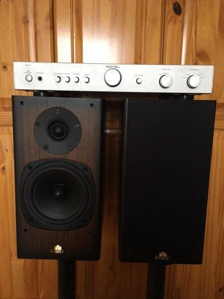 castle knight  speakers rotel ra  amp  armagh