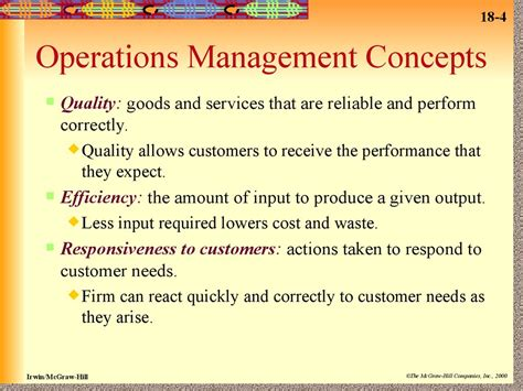 operations management managing quality efficiency