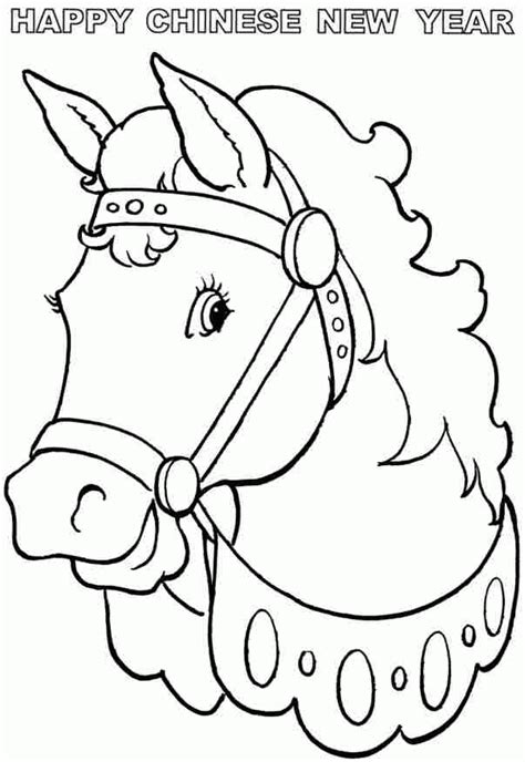 new year coloring pages pdf wooden horse chinese new year 2014 colouring sheets free
