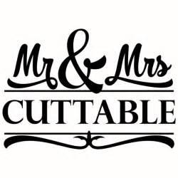 mr and mrs wedding split cuttable designs