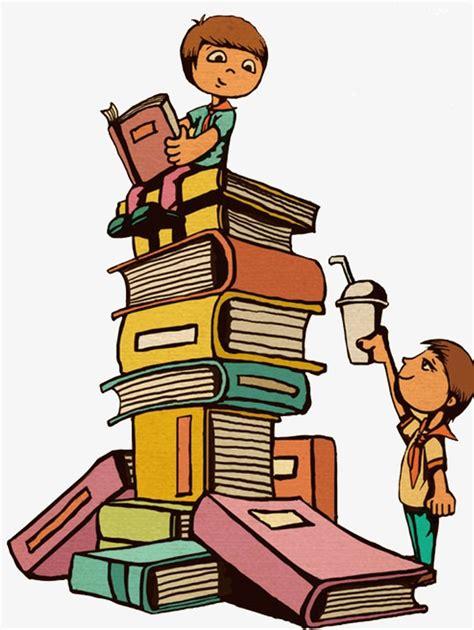 mont 243 n de libros de dibujos animados ilustraci 243 n vector dibujos de lectura dibujos animados con su madre de