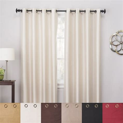 Ivory Blackout Curtains Ivory 84 Faux Silk Blackout Curtains Look Check Price 2 Solid Pink Sheer