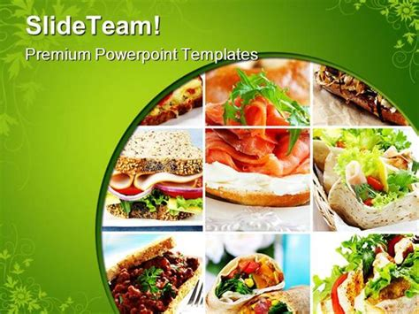 Food Safety Powerpoint Template Salad Collage Food Food Safety Powerpoint Template