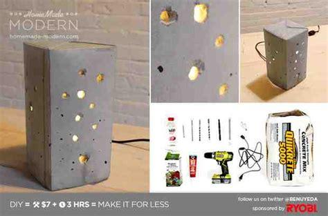 concrete diy sleek diy concrete pendant l for 10 do it yourself