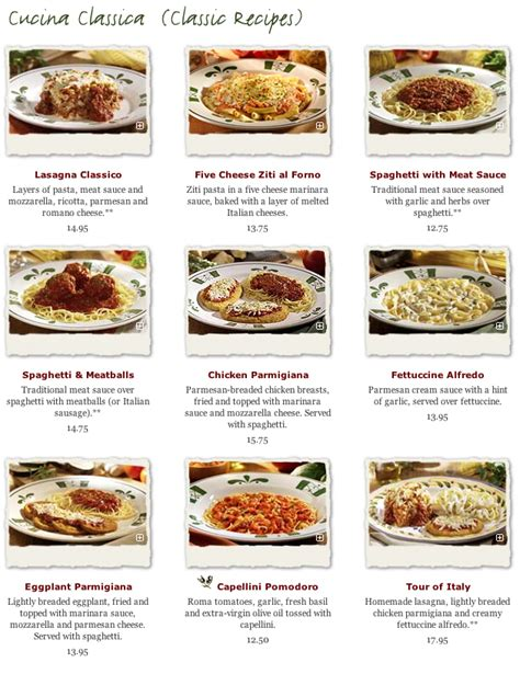the gallery for gt olive garden menu