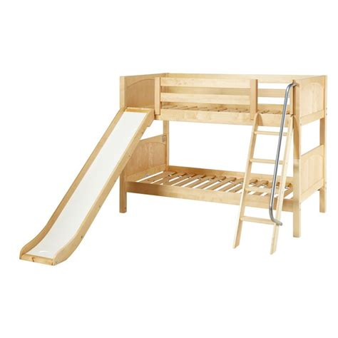 Wood Bunk Bed With Slide Laugh Panel Slide Bunk Bed Trundle Beds At Hayneedle