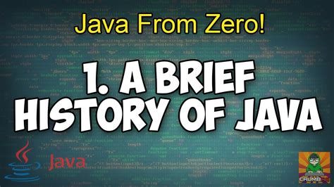 Historis Of Java a brief history of java 1 java from zero