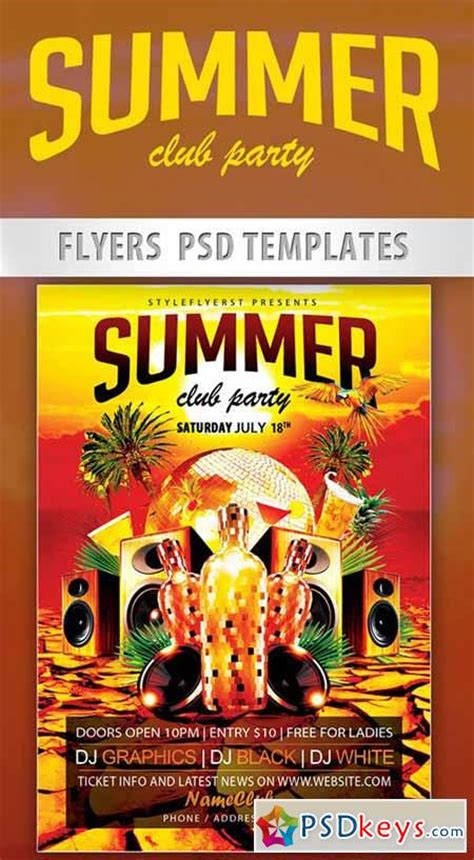 summer c flyer template summer club flyer psd template cover