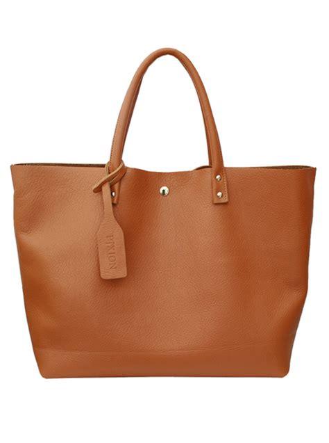 brown leather bags pixion shopper brown leather bag korean fashion