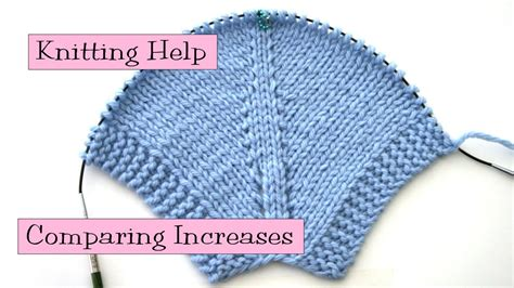 knitting decreases in the knitting help comparing increases