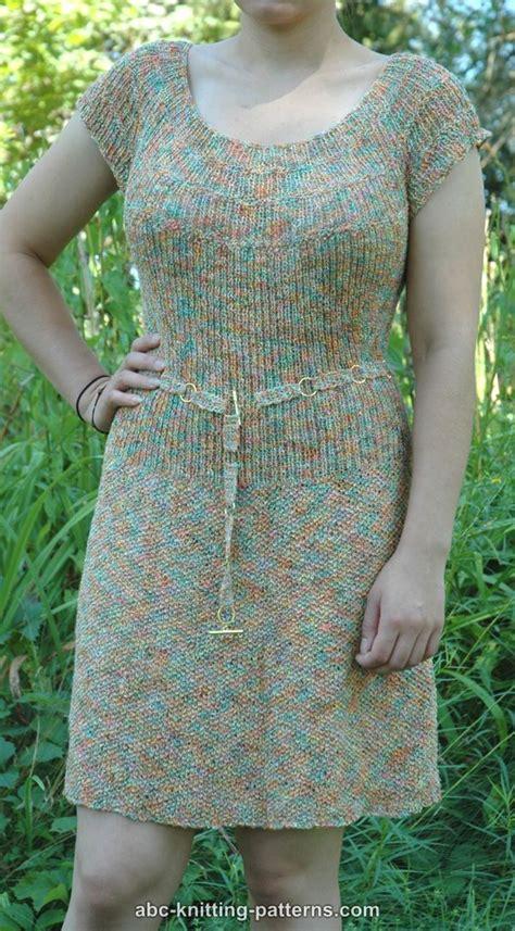 pattern yoke dress abc knitting patterns summer dress with the round yoke
