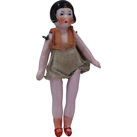 1920 bisque doll 1920 s 5 3 quot bisque flapper doll in swim suit from