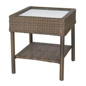 Wicker Accent Table Rolston Wicker Patio Accent Table Threshold Target