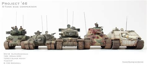 x tank t28 105mm gmc project 46 x tanks size comparison