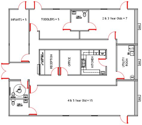 preschool floor plan layout daycare facility floorplan day care floor plans