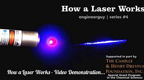 how laser diode works how a laser works demonstration