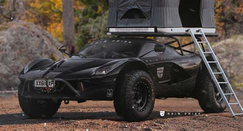 off road sports car virtual off road cer laferrari rendering by rain prisk