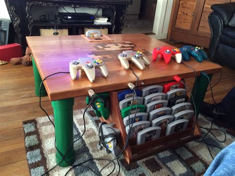 n64 room nintendo 64 table a n64 mod in a wooden table n64 squid