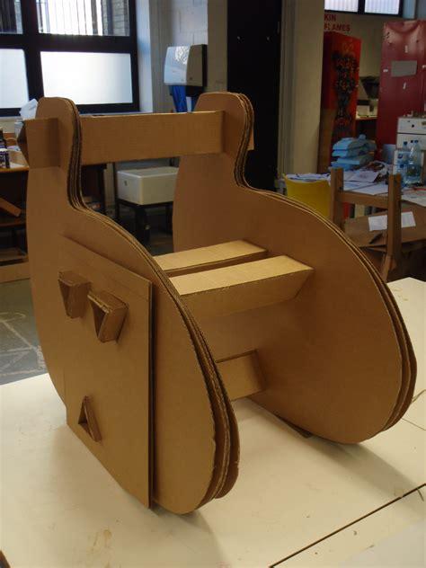cardboard chair project by ben millett at coroflot