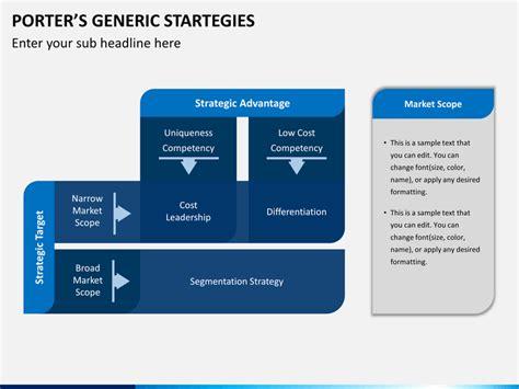 Porter's Generic Strategies PowerPoint Template   SketchBubble